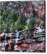 Red Falls Acrylic Print