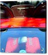 Red Ferrari Engine  Acrylic Print