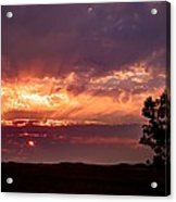 Red Fire Sunset Acrylic Print