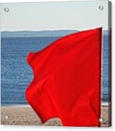 Red Flag Acrylic Print