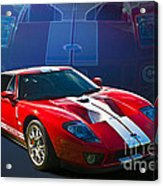 Red Ford Gt40 Acrylic Print