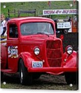 Red Ford Pickup Acrylic Print