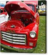 Red Gmc Acrylic Print