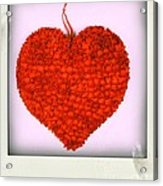 Red Heart Acrylic Print