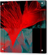 Red Heart Flower Acrylic Print