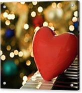 Red Heart On Piano, Sandusky Acrylic Print by Ray Sandusky / Brentwood, TN