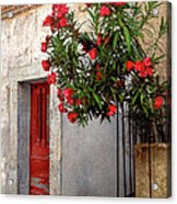 Red In Provence Acrylic Print