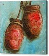 Red Jars Acrylic Print