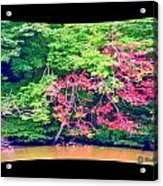 Red Leaves Pano Acrylic Print