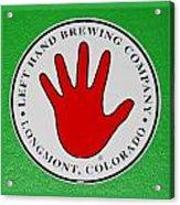 Red Left Hand Acrylic Print
