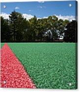 Red Line On An Athletic Field Acrylic Print