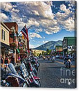 Red  Lodge Motorcycle Rally Acrylic Print