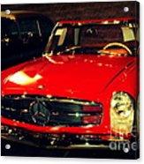 Red Mercedes Sl Acrylic Print