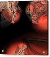 Red Mesh Meeting Acrylic Print