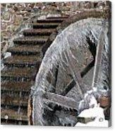 Red Mill In Winter IIi Acrylic Print