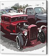 Red Model A Coupe Acrylic Print