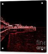 Red Neon Wharf Acrylic Print by Garnett  Jaeger