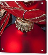 Red Ornaments Acrylic Print