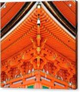 Red Pagoda, Hougonji Temple Acrylic Print