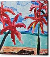 Red Palms Acrylic Print