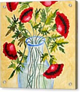 Red Poppies In A Vase Acrylic Print