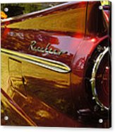 Red Ranchero And Round Taillight Acrylic Print