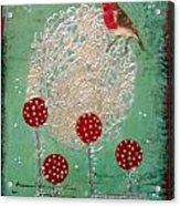 Red Robin Acrylic Print