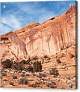 Red Rock And Blue Skies 2 Acrylic Print
