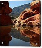 Red Rock Canyon Water Acrylic Print
