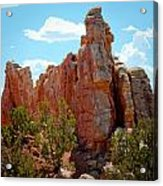 Red Rock Cliff Acrylic Print