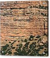 Red Rock Cliffs Along The Hood River Acrylic Print