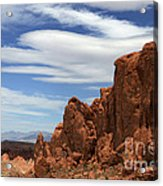 Red Rock Cliffs Valley Of Fire Nevada Acrylic Print