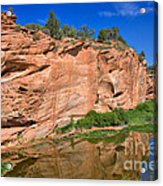 Red Rock Formation In The Kaibab Plateau In Grand Canyon National Park Acrylic Print