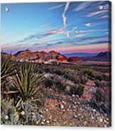Red Rock Sunset Acrylic Print