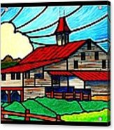Red Roof Barn On Osceola Springs Road Acrylic Print