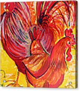 Red Rooster Red Hen Acrylic Print