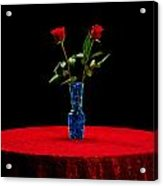 Red Roses On A Table Acrylic Print