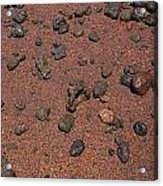 Red Sand And Rocks Acrylic Print
