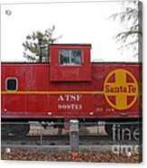 Red Sante Fe Caboose Train . 7d10328 Acrylic Print