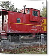 Red Sante Fe Caboose Train . 7d10329 Acrylic Print