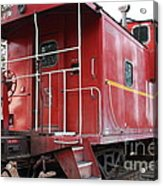 Red Sante Fe Caboose Train . 7d10330 Acrylic Print