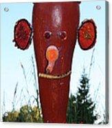 Red Scarecrow Acrylic Print