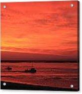 'red Skies At Morning Sailors Take Warning' Acrylic Print