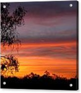 Red Sky In The Morning Acrylic Print