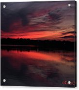 Red Sky Sunset Acrylic Print