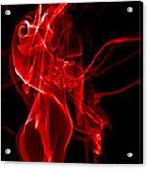 Red Smoke Acrylic Print