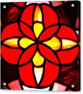 Red Stained Glass Acrylic Print