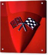 Red Stingray Badge Acrylic Print