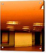 Red Subway Acrylic Print