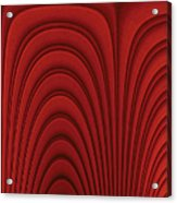 Red Textured Background Acrylic Print